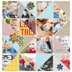 digital scrapbook layout created by plumdumpling featuring the April 2014 FREE template by sahlin studio