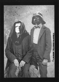 Victorian Star Wars.  The Emperor and Vader. This is what procrastination looks like for me.