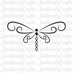Semicolon Dragonfly by SuddenlyCrafts on Etsy #beautytatoos