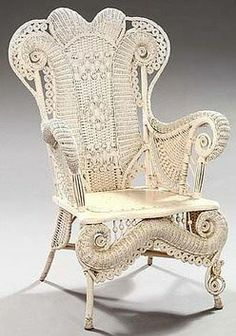 7 Creative And Inexpensive Tips: Rustic Wicker Furniture wicker makeover shabby chic. Victorian Chair, Victorian Furniture, Victorian Decor, Wicker Furniture, Vintage Furniture, Wicker Chairs, Victorian Conservatory, Wicker Rocker, Wicker Armchair