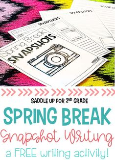 Each year your students are so excited when they walk in the door from spring break. Grab this FREE spring break writing activity that is perfect for sharing all those little details.
