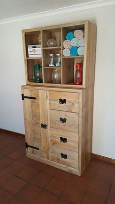 Pallet Shelving Unit with Cabinets