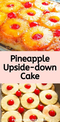 Easy recipe for Pineapple Upside Down Cake with a pineapple flavored cake batter features caramelized pineapples and cherries. It looks harder than it is!When making the best pineapple upside down cake is this easy, we almost feel bad calling this a recipe! #recipes #recipes #cake #pineapple Pineapple Upside Down Bundt Cake Recipe, Pinapple Cake, Easy Pineapple Cake, Pineapple Desserts, Pineapple Recipes, Box Cake Recipes, Baking Recipes, Dessert Recipes, Potluck Recipes