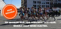 New Record! 184 women ran for Congress this year. Nearly half were elected.