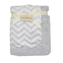 Koala Baby Grey Chevron Faux Fur Blanket