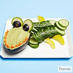 """For your next playdate or party, create this """"crocomole""""....Lots of recipes to get kids eating more vegetables!"""