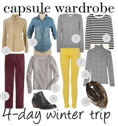 capsule wardrobe: 4-day winter trip