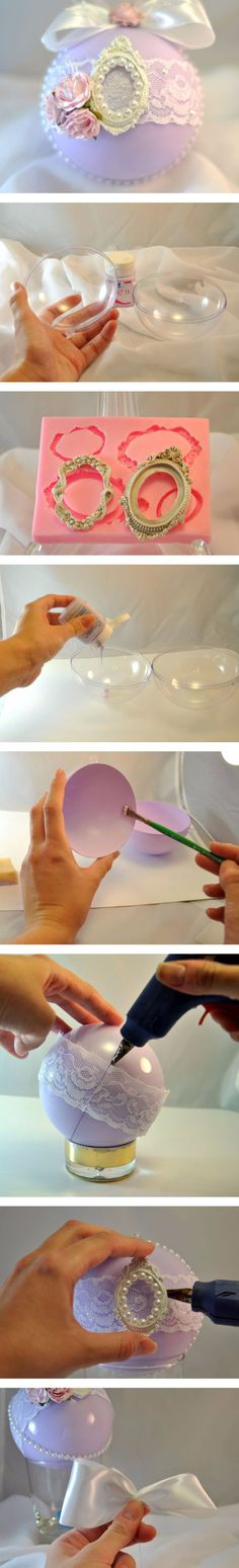 DIY Christmas tree ornament. Click on image to see step-by-step tutorial