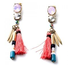 Pair of Classic Rhinestone Tassel Pendant Earrings For Women ($5.35) ❤ liked on Polyvore featuring jewelry, earrings, tassel jewelry, pendant jewelry, rhinestone jewelry, tassel pendant and pendant earrings