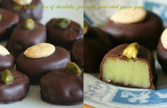 Almond paste chocolates – Desserts World Nutella, Chocolates, No Bake Oreo Cheesecake, Cracker Toffee, Toffee Bars, Caramel Brownies, Almond Recipes, Caramel Apples, Clean Eating Snacks