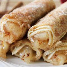 Cinnamon sugar Fried Apple Sticks