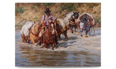 The Outfitter--Years of guiding through the Montana back country makes this cowboy an invaluable part of a successful pack trip. Cowboy Images, Cowboy Art, Cowboy Western, West Art, Horse Drawings, Country Art, Horse Art, Art History, Fine Art