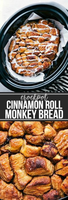 The ultimate BEST EVER Crockpot Monkey Bread! SO many flavors and not overly swe 2019 The ultimate BEST EVER Crockpot Monkey Bread! SO many flavors and not overly sweet! Plus its made super simple in the crockpot! via chelseasmessyapro Crockpot Breakfast Casserole, Breakfast Crockpot Recipes, Crock Pot Desserts, Casserole Recipes, Slow Cooker Recipes, Breakfast Bake, Crockpot Ideas, Monkey Bread Crockpot, Cinnamon Roll Monkey Bread