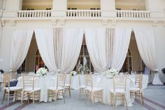 #Draping - Mixed Fabrics | See the wedding on SMP:  http://www.StyleMePretty.com/2014/01/24/saratoga-wedding-at-villa-montalvo/ Photography: Christina McNeill