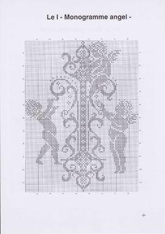 Вышиваем крестиком. МОНОГРАММЫ С АНГЕЛАМИ (12) (495x700, 165Kb)
