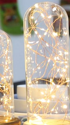Copper Wire Light Ideas Watch the video to find out how to make Copper Wire Light domes! They create the perfect ambiance in any room!Watch the video to find out how to make Copper Wire Light domes! They create the perfect ambiance in any room! Winter Wedding Decorations, Christmas Decorations, Prom Decor, Christmas Lights, Diy Christmas, Decor Wedding, Outdoor Christmas, Light Decorations, Diy Decorations For Home