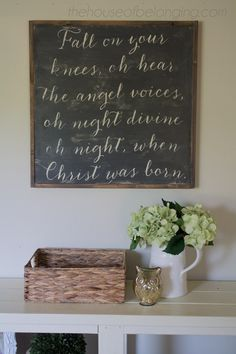 Fall on Your Knees Christmas Sign by TheHouseofBelonging on Etsy, $100.00