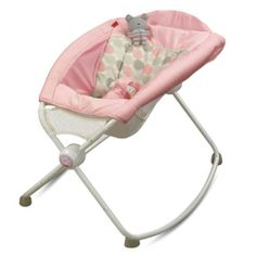 Fisher-Price Newborn Rock 'N Play Sleeper - Pink Circles. I saw these at the Storks nest! Baby Bouncer, Baby Bassinet, Dream Baby, Baby Love, Baby Baby, Rock And Play, Rock N Play Sleeper, Learning Toys For Toddlers, Toddler Learning