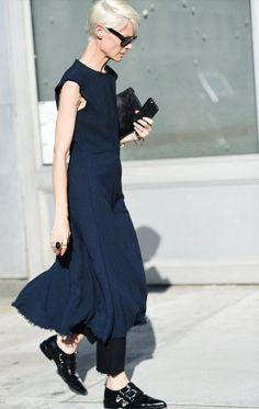 How to Wear Black In Summer: Have fun with layering.