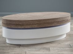 Wooden Coffee Table White Wood Slide Top Living Room Furniture Oval Storage Big for sale online Oval Coffee Tables, Coffe Table, Coffee Table With Storage, Table Storage, Oval Table, Sofa End Tables, Side Tables, Color Dorado, Contemporary Coffee Table