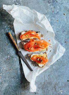 Salmon sandwich with a twist
