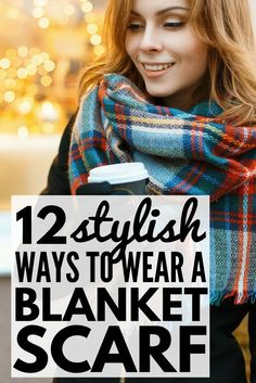 Scarves offer a fun yet inexpensive way to dress up your favorite outfits. From the standard loop and pull-through, to a sexy off-the-shoulder wrap and a chic belted poncho, these tutorials will teach you how to tie a blanket scarf 12 different ways. Who knew a rectangular piece of fabric could make you look so fashionable and stylish?!