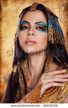 Arsinoe II was the first female pharaoh of Egypt, so maybe it's not entirely out of bounds to envision her dressed in native garb.