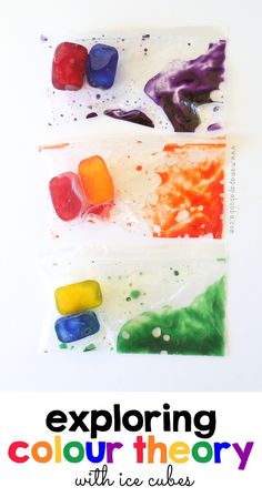 Exploring Colour Theory With Ice Cubes | Mama.Papa.Bubba.