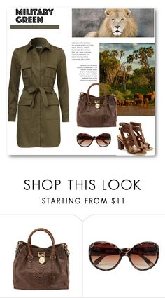 """Military Green"" by dezaval ❤ liked on Polyvore featuring Out of Africa, M&Co and Gogreen"