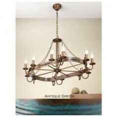 Lustrarte 360/12T Twelve Light One Tier Chandelier from the Medieval Collection