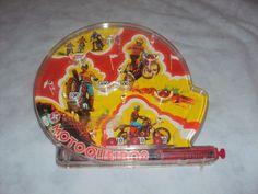 brinquedo antigo, jogo fliperama motocross da estrela.