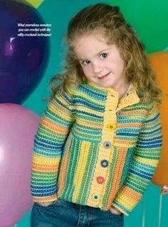 Discover thousands of images about Crochet PATTERN ONLY Child's Raglan Sleeve Coat Sweater Pattern Crochet Toddler, Crochet For Kids, Girls Sweaters, Baby Sweaters, Knitting For Kids, Baby Knitting, Crochet Trim, Knit Crochet, Free Crochet