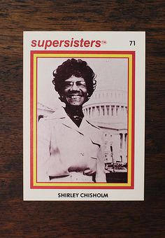 Feminist trading cards form the 70's.