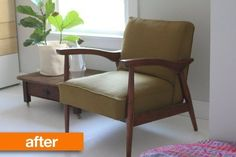 Before & After: MCM Chair Gets an Upholstery Redo | Apartment Therapy