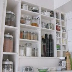 I have a huge thing for an organized pantry with food in glass containers
