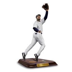 With four World Series® rings, Bernie Williams earned a special place in the hearts of Yankees fans and in Monument Park™ where he will be immortal. Yankees Fan, New York Yankees, Bernie Williams, World Series Rings, Fourth World, Danbury Mint, Mlb, Action Figures, Sculpture