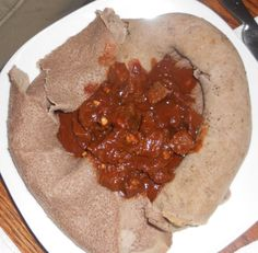 Every now and then someone requests Ethiopian recipes. Most of the easily available recipes are the traditional stews, and there are hundreds of individual variations of these recipes with the same name. In the Kitchen Information Forum you can find a short glossary of Ethiopian food terms. The word WAT means a stew, and the basic spice mixture used in almost all stews are BERBERE. The recipes are economical, easy and tasty, and always served with INJERA (flatbread). If you type Injera in…