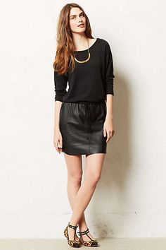 Anthropologie - Brava Vegan Leather Dress