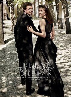 Le Prince Héritier Frederick la Princesse Héritière Mary et leurs enfants ont accepté de faire la Une du Magazine Vogue Australie, en vente le 11 juillet 2016. Mario Testino, le...