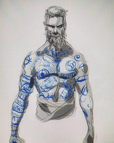 God of war baldur sketch tonight Rune Tattoo, War Tattoo, Norse Tattoo, Viking Tattoos, Tattoo Maori, Tribal Tattoos, Tattoo Design Drawings, Tattoo Sketches, Kratos God Of War