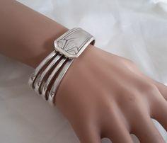 Bracelet fourchette, carrée , dents droites , art déco : Bracelet par j-v-bijoux
