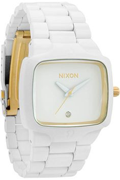 The Player Watch by Nixon in All White / Gold - $225.  #nixon #watch #watches