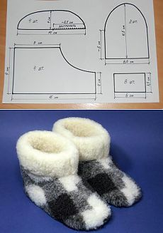 Warm slippers from fur the handsHow to sew chuni? Sewing Slippers, Cute Slippers, Kids Slippers, Felted Slippers, Crochet Slippers, Baby Doll Shoes, Baby Shoes Pattern, Crochet Baby Shoes, Doll Shoe Patterns