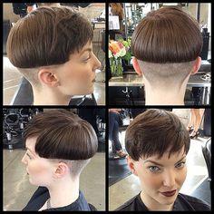 11056007_787362517985109_277664055_n | mcgrath5 | Flickr Bowl Haircuts, Short Bob Haircuts, Page Haircut, Shaved Nape, Bowl Cut, Short Hair Cuts, Foto E Video, Braided Hairstyles, Hair Inspiration
