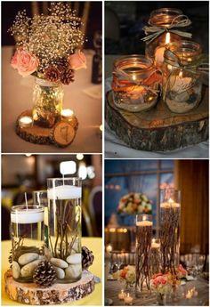 33 Gorgeous Mason Jars Wedding Centerpieces Wedding Planning Wedding decorations Wedding
