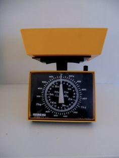 Retro Orange kitchen scale by DanishDecor on Etsy, kr250.00