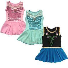 Girl's Gymanastics Train Leotard Kids Dance Dress Ballet Tutus Show Performance Costume – USD $ 9.99