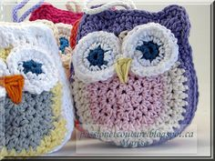 Passion et Couture: More Crochet Owls with a free pattern.
