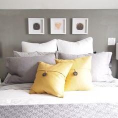 Trendy Bedroom Art Above Bed Framed Initials Ideas Dream Bedroom, Home Bedroom, Master Bedroom, Bedroom Decor, Bedroom Ideas, Bedroom Inspiration, Bedroom Themes, Color Inspiration, Yellow Gray Bedroom