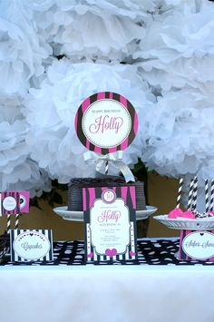 Pink Zebra Birthday Party Collection ON SALE by EmmysEvents- printable pink zebra invitation, pink zebra cupcake toppers, pink zebra decorations and more! Pink Zebra Birthday, Pink Zebra Party, Tween Girl Party Ideas, Tween Girls, Zebra Print Party, Barbie Theme Party, Zebra Baby Showers, First Birthday Parties, 12th Birthday